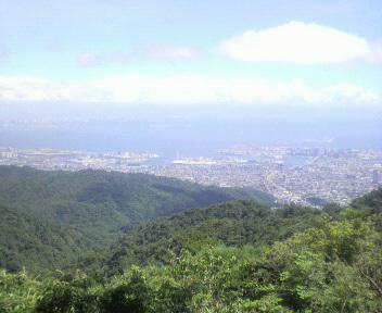 海の日は六甲山