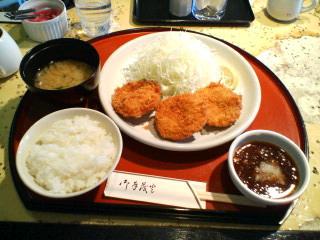 今日のお昼(<br />  米かつ・とんかつ)
